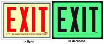 mea certification - exit signs
