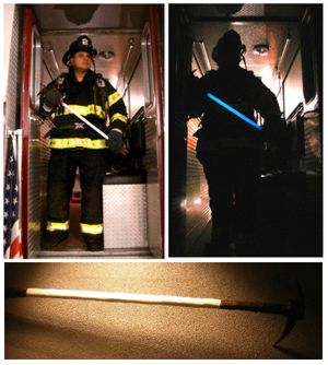 Glow In The Dark Paint Applications - Fire Fighter Tools - fireman Gonzales